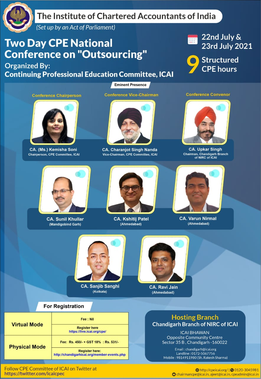 """Two Days CPE National Conference on """"OUTSOURCING"""""""